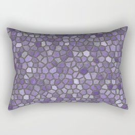 Faux Stone Mosaic in Purples Rectangular Pillow