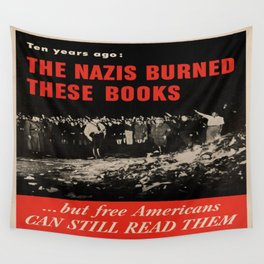 Vintage poster - Burned Books Wall Tapestry