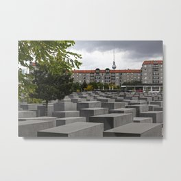 Berlin Holocaust Memorial Metal Print