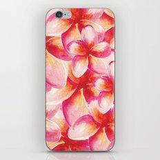 Plumeria Floral Watercolor iPhone & iPod Skin