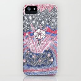 Abstract Flower Field iPhone Case