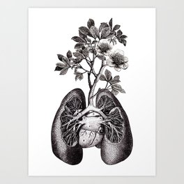 Flourishing Lungs Art Print