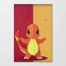 Charmandr Poke Minimalistic Canvas Print