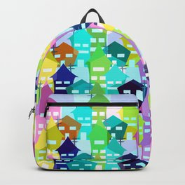 Colorful houses Backpack