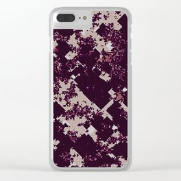 Chaotic pattern Clear iPhone Case