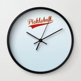 Pickleball Old-School Wall Clock