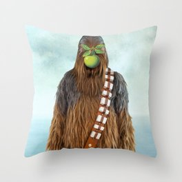 Chewbacca in The Son of A Man Throw Pillow