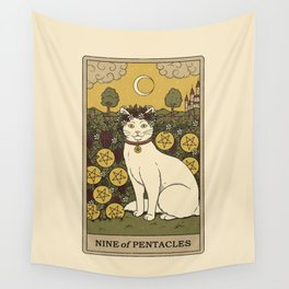 Nine of Pentacles Wall Tapestry