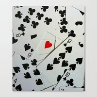 poker Canvas Prints featuring Poker by Jackie