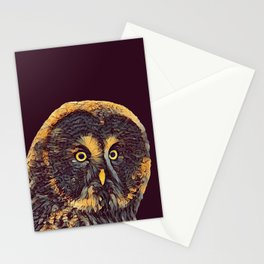 THE OWL 001 - The Dark Animal Series Stationery Cards