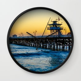 Pier at Days End Wall Clock
