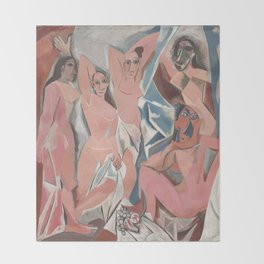 Pablo Picasso - Les Demoiselles d'Avignon Throw Blanket