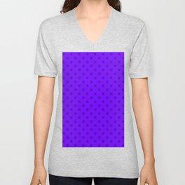 Black on Indigo Violet Snowflakes Unisex V-Neck