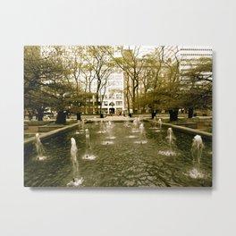 Chicago Fountain  Metal Print
