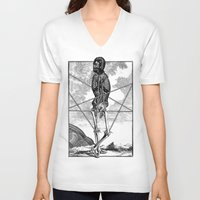pagan V-neck T-shirts featuring Pagan practioners by DIVIDUS