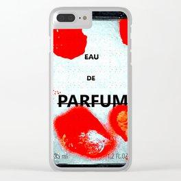 Parfum Box Red Splash Clear iPhone Case