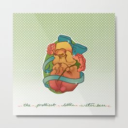 The Prettiest Little Waterbear Metal Print
