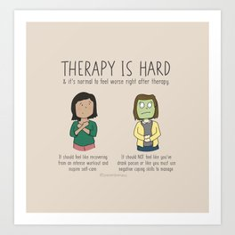 Therapy is Hard Art Print