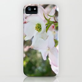blush kissed dogwood with bokeh iPhone Case