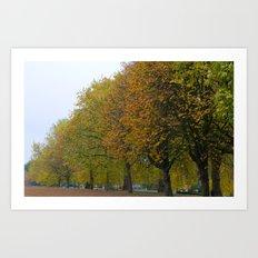 Autumn in Hyde Park Art Print
