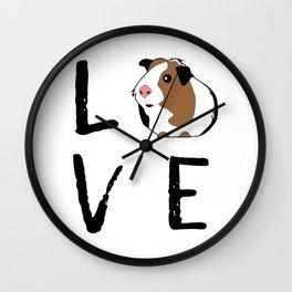 Guinea Pig Gift Love Guinea Pig Guinea Pig Lovers Birthday Present Wall Clock