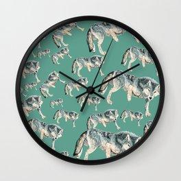 Totem Polar wolf Wall Clock