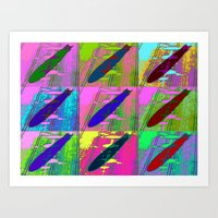 led zeppelin Art Prints featuring Zeppelin Warhol by Sara PixelPixie