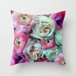Romantic flowers I Throw Pillow