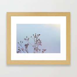 Looking at the river Framed Art Print