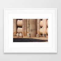 buddhism Framed Art Prints featuring Buddhism ancient place in Sanchi by Four Hands Art