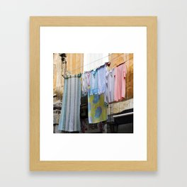 LAUNDRY DAY - Catania - Sicily Framed Art Print