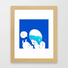 Blue lovers Framed Art Print
