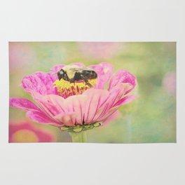 Honey Bee on Dahlia 1 Rug