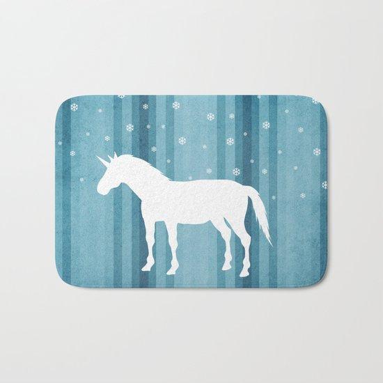 Winter Falls Unicorn Bath Mat