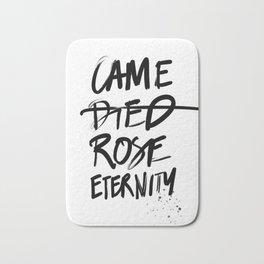 #JESUS2019 - Came Died Rose Eternity (black) Bath Mat