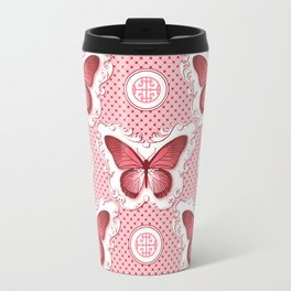 Chinoiseries Porcelain Butterfly Red Travel Mug