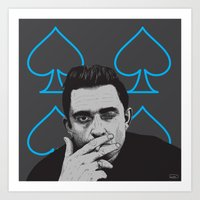johnny cash Art Prints featuring JOHNNY CASH by Kayser152
