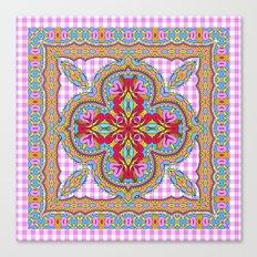 Mix&Match;  Pretty Pink Mandala Meditation pillow 01 Canvas Print