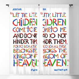 Let the little children come to me Blackout Curtain