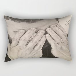 """Hands"" Jamie Dornan Rectangular Pillow"