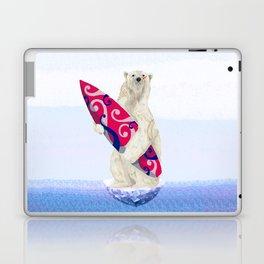 Polar bear & Surf (tribal pink) Laptop & iPad Skin