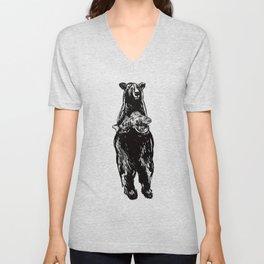 Black Bear and Pickerel Unisex V-Neck