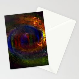 Concept abstract : The way of colours Stationery Cards