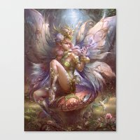 fairy Canvas Prints featuring Fairy by YuChengHong