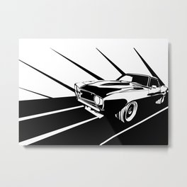 Racing Metal Print
