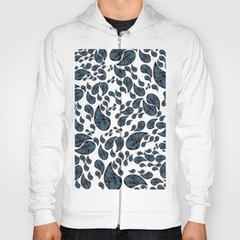 Paisley turquoise, black and white. Hoody
