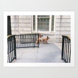 Waiting Dogs Art Print