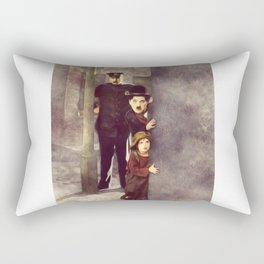 Charlie Chaplin, The Kid Rectangular Pillow