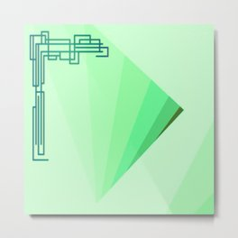Eleganza 09,green Metal Print