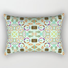 """Seamless pattern in the style of """"printed circuit board"""" Rectangular Pillow"""